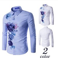 Wholesale New men s fashion men s cultivate one s morality joker printing youth fashion long sleeved shirt