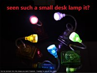 asia cell - 100pcs LED Lamp Night Light Reading Lamp Clip Book Lights Random Twist Protect The Eyes Good Quality Good Gift DHL