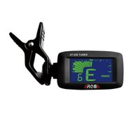 Wholesale NEW LCD Display Clip on Guitar Tuner AT Ukulele Clip Tuner Guitar Parts Chord Dictionary Finder Tab Chord