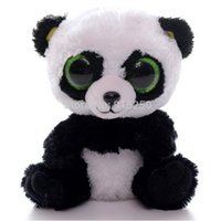 bamboo keychain - Lovely TY Collection White BAMBOO Panda Plush Toy Small Charms Stuffed Animal KeyChain Plush Doll Toys LNF