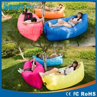 Wholesale DHL Modern Living Room Sofa Foldable Gas Lazy Sofa Bed Sunshine Beach Fast Blow Up Chair Park Sleeping Equipment Home Furniture