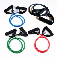 Wholesale 2016 Promotion High Quality Set Latex ABS Tube Workout Resistance Bands Exercise Gym Yoga Fitness Sets Outdoor Sports Supplies
