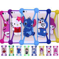 Cheap Universal 3D Cartoon Silicon Frame Bumper Case Stitch Minnie kitty Minions Cases Suit For Iphone Samsung Xiaomi Huawei ect Under 6'' Screen