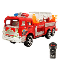 battery lift truck - RC Fire Truck CH Remote Vehicle Motor driven Fire Engine Fire Service Lifts Salvation Scaling Ladder with Original Box