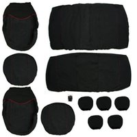 pink car seat covers - New Hot Sale Universal Car Seat Cover Pieces Black Full Seat Covers For Crossovers Sedans Your Good Choice