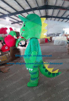 alligator mascot costume - Vivacious Green Dinosaur Dino Crocodile Alligator Lizard Lacertid Mascot Costume Cartoon Character Mascotte Adult NO FS