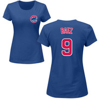 best womens t shirts - Womens Chicago Cubs Javier Baez Blue Majestic Royal Custom Roster Name Number T Shirt Accept Mixed Orders Best Quality