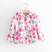 Wholesale Girls Windbreaker Jacket Spring New Fashion Print Design Tide British Style Explosion Models Casual Gift Of Choice