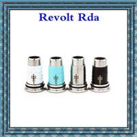 Revolt rda Atomiseur Evaporateur Remplaçable 3.0ml 22mm 304Acier inoxydable Bricolage RDA Filament atomiseur 510 fils Capacité double bobine unique DHL