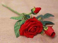 Wholesale 2 Flannelette ruyi rose simulation flowers wedding leave home decoration silk flowers