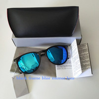 Wholesale High quality Brand Designer blue Mirror Sunglasses For Men and Women UV400 Vintage Sport Sun glasses With box and cases