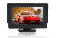 al por mayor monitorear presentan-Car Styling 4.3 pulgadas TFT LCD Pantalla de monitor de coche para Rearview inversa de copia de seguridad Cámara Car TV Display
