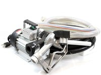 ac fuel transfer pump - 16GPM v AC Oil Transfer Pump Kit w Digital Nozzle Cast Iron Construction Hose Fuel Diesel Biodiesel