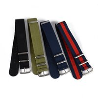 Wholesale Fashion Nylon Wrist Watch Band Buckle Straps Mens Colors mm