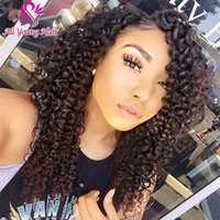 baby afro wig - 7A Afro Kinky Curly Full Lace Wig With Baby Hair Virgin Brazilian Lace Front Human Hair Wigs U Part Wigs For Black Women