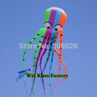 bag lining material - High quality M Octopus fashion flying kite outdoor toys discount flying adults with handle line love