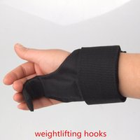 Wholesale High Quality Pair Weightlifting Hooks Weight Lifting Gloves Gym Fitness Wrist Support Training Grips Straps Glove Men amp Women