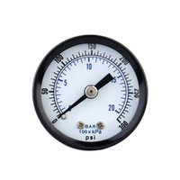 Wholesale 0 bar psi Vacuum Manometer Mini Dial Air Pressure Gauge Meter Piezometer Double Scale Measuring Tools Instruments