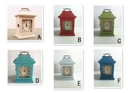 Cajas de madera relojes España-Continental retro de madera Inicio Productos organizador del almacenaje de las misceláneas Medicina Estética Claves Box / Case / Pot / florero / Bins / contenedor con el reloj