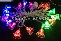 bell jar lighting - Seven Neon V V christmas bell shape M leds party Christmas decoration holiday led string light