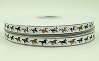 animal print grosgrain - ribbon OEM inch mm Animal Horse Print grosgrain ribbon headband for yds roll