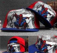 baby baseball gifts - Hat Batman Spiderman Iron man children cap cartoon kids performing hip hop baby hat Flat eaves baseball cap Sports happy gifts DHL
