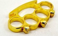 Wholesale NEW and colors Thin Skull Steel Brass knuckle dusters Safety Products KNUCKLE