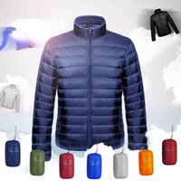 Wholesale Parkas Man Ultralight Down Jacket Feather Men Duck Down Outdoors Stand Collar Lightweight With Buggy Bag
