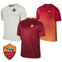 arena football jerseys - Thailand quality new Rome arena Serie maroon jersey short sleeve football uniforms Rossi Pjanic nainggolan strootman football shirt