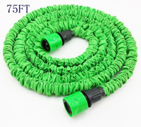Wholesale by DHL express to Russia boxs FT Flexible Expandable Garden Water Hose Green hose fast connector