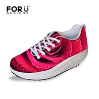 beauty shake - Height Increasing Women Shoes Beauty Res Rose Floral Swing Shoes for Lady Female Health Fitness Casual Outdoor Low Shake Shoes