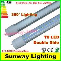 led box sign - 360 degree Emitting T8 Double Size LED tube lights G13 R17D Rotating ft W ft W ft w Sign Box Lighting LED Lights