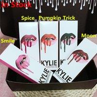 Wholesale Kylie Jenner Cosmetics Lip Kit Spice Moon Trick Pumpkin Velvetine Liquid Matte Lipstick lipliner in Red Velvet Makeup Huda Gloss