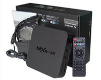 Wholesale MXQ K Smart Android TV Box RK3229 Quad Core G G H FPS HDMI Media Player HD Wifi TV Boxes XBMC Kodi16 Full loaded K Media