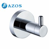 bathroom components - AZOS Wall Mounted Chrome Polished Finish Silver Color Bath Towel Hooks Bathroom Accessories Shower Hardware Components GJML9210A