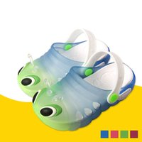 Wholesale New PVC Skid EVA Bottom Caterpillar Baby Shoes Tunnel Beach Garden Jelly Gradient Children Shoes Summer Sandals Suit for Years Old