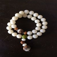 Cheap Fashion White jade Buddha hand string bracelet bracelet root wood beads Bodhi sub hand on 505