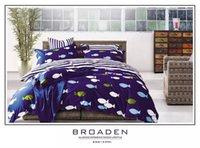 Cheap Blue fish reactive print cotton queen bedding bedspreads with reversible duvet cover flat sheet 4 5pc comforter sets textile