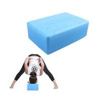 big foam blocks - cmx15cmx7 cm Big Blue Square Yoga Blocks Foam Brick Home Exercise Practice Fitness Gym Equipment CLSK