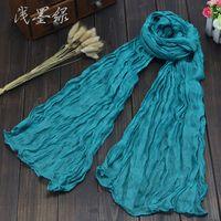 Wholesale Size cm Hot Sale Colors Available Women Winter Cotton Fashion Shawl Long Scarf Feminina Bufanda