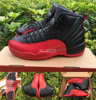 Wholesale Retro XII Men Basketball Shoes Black Red High Quality Flu Game Sports Shoes Outdoor Trainers Athletic Sneakers Cheap Retros s US