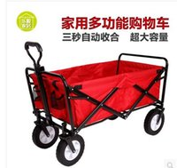 Wholesale Yue Yuen cart lage cart outdoor camping trailer drivers pulling rod climbing stairs folding shopping carts