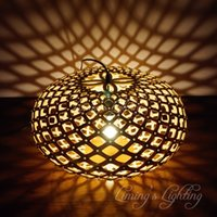 bamboo lighting fixtures - 50cm Nordic Bamboo Wood Coral Pendant Lights Modern Creative Fixtures Simple DIY Wooden Cage Ball Coral Pendant Lamps Lights