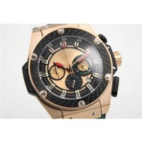 battery box suppliers - factory supplier Luxury Brand watches men big bang king power World Boxing gold watch quartz chronograph leather Watches Men s dress Watches