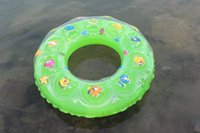 Wholesale Safety Baby Toys Inflatable Boat Children s cartoon double thickening inflatable crystal swim ring quot PVC quot environmental protection