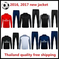 Wholesale Sportswear di maria jacket and pants Survetement sportswear football unlined upper garment sweater jacket coat chandal Paris Thailan