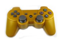 Wholesale 11 color Gold PS3 Wireless Bluetooth Game Controller for PlayStation PS3 Game Controller Joystick For Video Games With Packaging