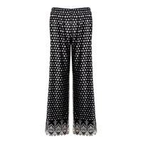 beautiful nylon legs - 2016 Spring And Summer New Nylon Trousers Retro Totem Pattern Casual Loose Wide Leg Pants Beautiful Comfortable Pants B