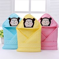 Wholesale Spring Autumn Health Cotton Catoon Baby Thin Receiving Blankets Infant Wrap Fashion for Year Old