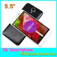 GPS Google Play Store T5 MTK6580 Quad-core 3G débloqué 5,5 pouces Android5.1 double Caméras mobile téléphone portable Smart-réveil Smartphone Case 3800mAh
